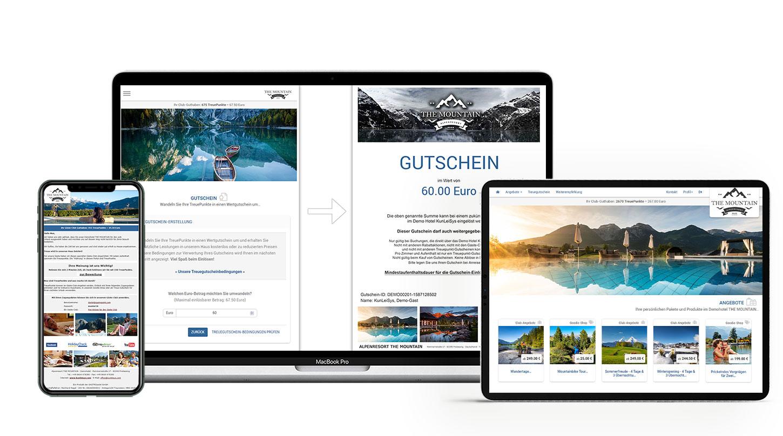 Abreise E-Mail / Gutschein Einlösung & Gutschein PDF / Gäste-Club Angebote