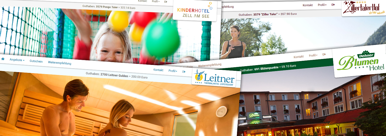 Thermenhotel Leitner, Kinderhotel Zell am See, Zillertaler Hof, Blumenhotel Dehner